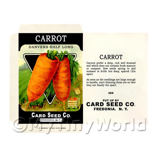 Danvers Carrot Dolls House Miniature Seed Packet