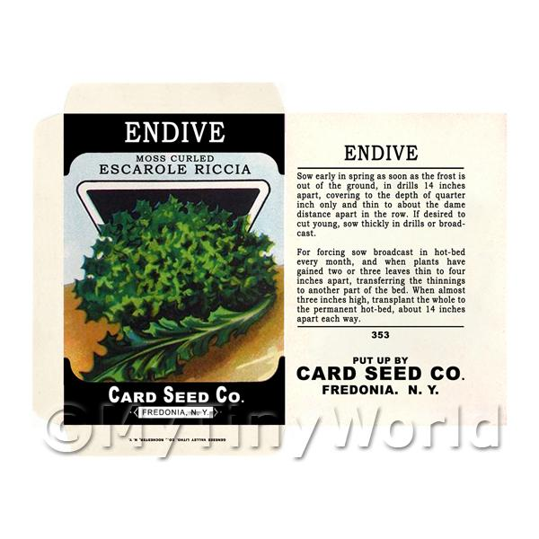 Moss Curled Endive Dolls House Miniature Seed Packet