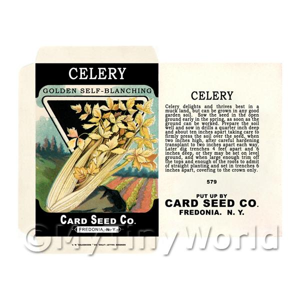 Golden Celery Dolls House Miniature Seed Packet