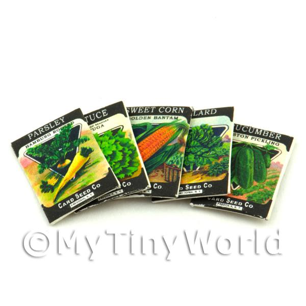 Dolls House Miniature  | Set of 5 Dolls House Miniature Seed Packets (SPMS03)