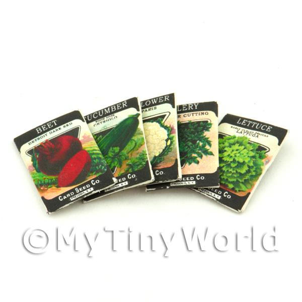 Dolls House Miniature  | Set of 5 Dolls House Miniature Seed Packets (SPMS07)