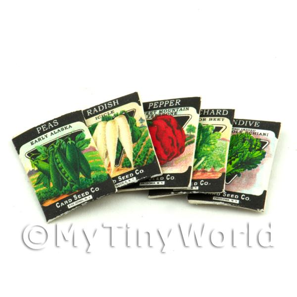 Set of 5 Dolls House Miniature Seed Packets (SPMS10)