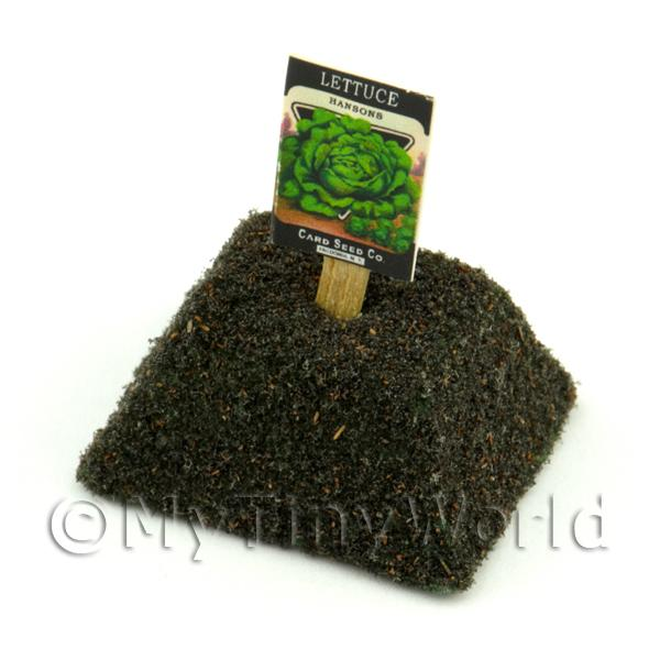 Dolls House Miniature Hansons Lettuce Seed Packet With A Stick