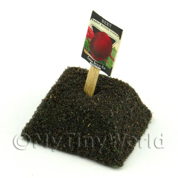 Dolls House Miniature Early Beetroot Seed Packet With A Stick