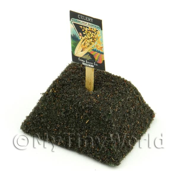 Dolls House Miniaturei Golden Celery Seed Packet With A Stick