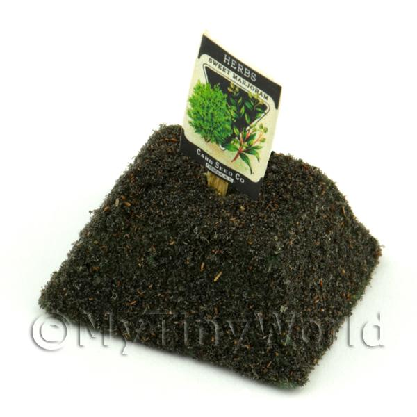Dolls House Miniature  | Dolls House Miniature Sweet Marjoram Seed Packet With A Stick
