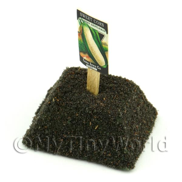 Dolls House Miniature Country Sweetcorn Seed Packet With A Stick