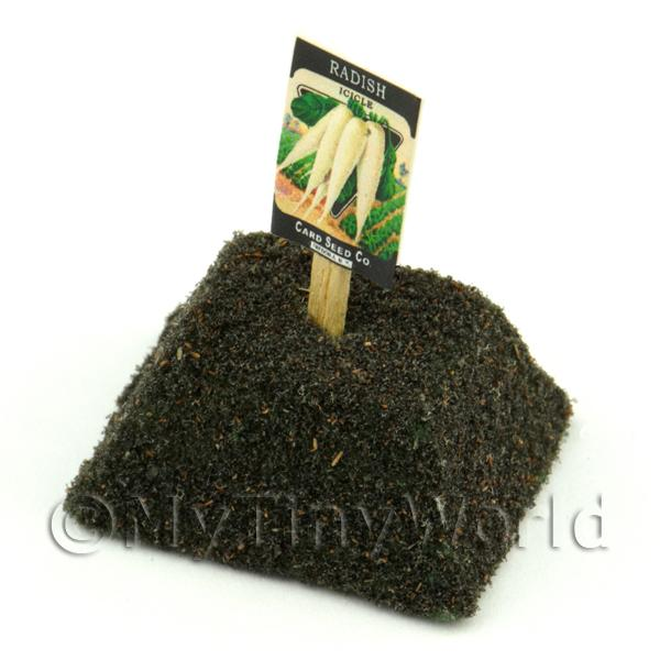Dolls House Miniature Icicle Radish Seed Packet With A Stick