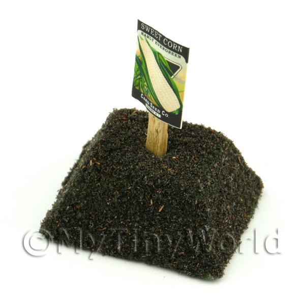 Dolls House Miniature Early Sweetcorn Seed Packet With A Stick