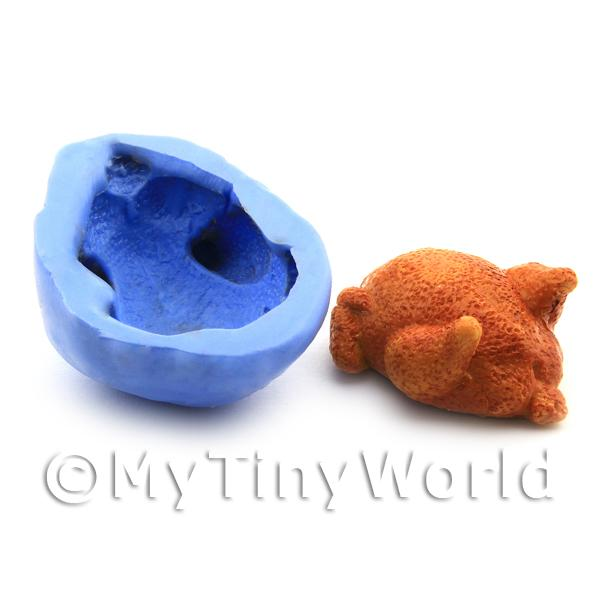 Dolls House Miniature Reusable Large Roast Turkey Silicone Mould
