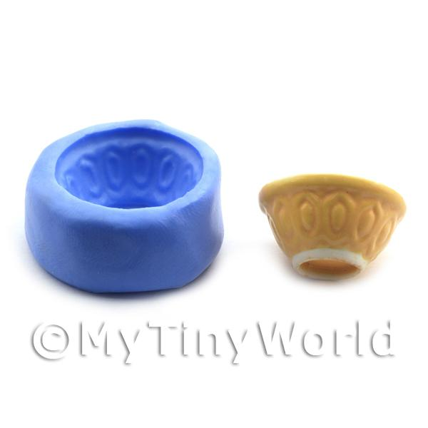 Dolls House Miniature Reusable Old Style Mixing Bowl Silicone Mould