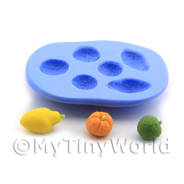 Dolls House Miniature  | Dolls House Miniature 6 Part Reusable Silicone Fruit Mould