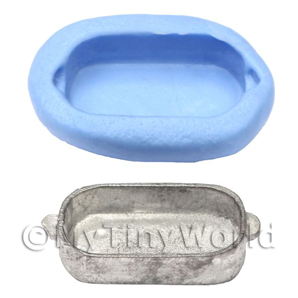 Dolls House Miniature Reusable Small Tin Silicone Mould