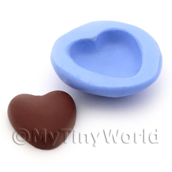 Dolls House Miniature Chocolate Heart Cake Base Silicone Mould