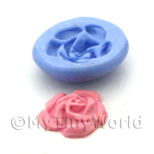 Dolls House Miniature Large Rose Cake Topper Reusable Silicone Mould