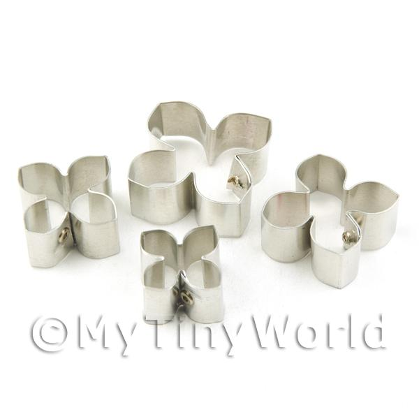 Dolls House Miniature  | Set of 4 Assorted Size Metal Hydrangea Craft Cutters