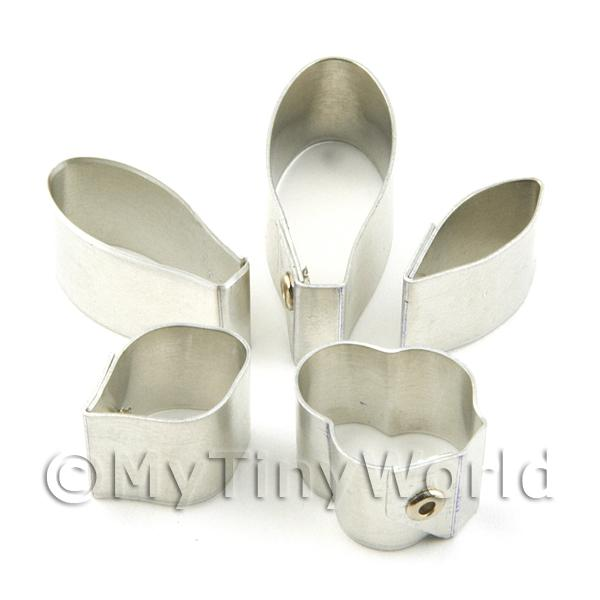 Dolls House Miniature  | Set of 5 Assorted Size Metal Cattleya Craft Cutters