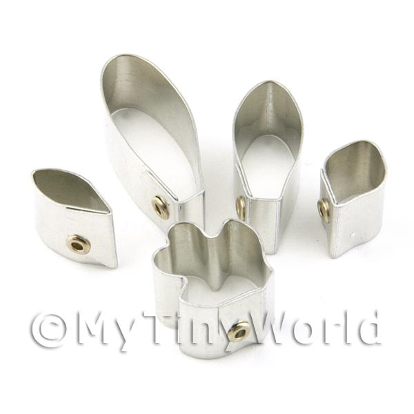 Dolls House Miniature  | Set of 5 Metal Hybrid Cattleya Sugar Craft Cutters