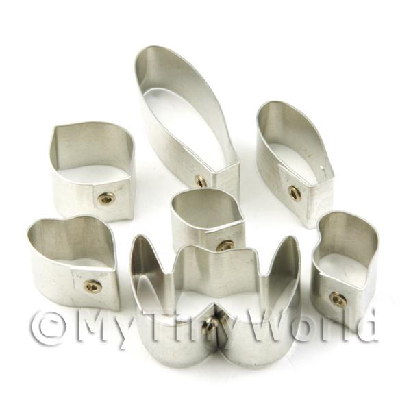 Set of 7 Metal Ladys Slipper Concolor Orchid Craft Cutters