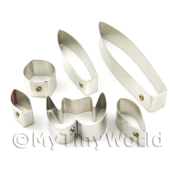 Set of 6 Metal Ladys Slipper Exul Orchid Craft Cutters