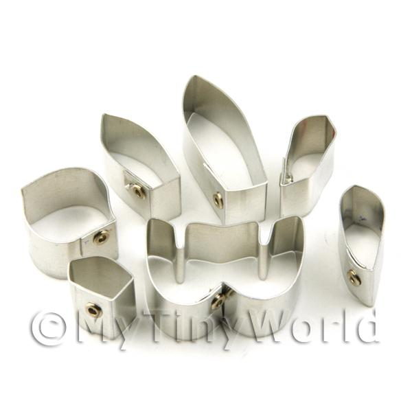 Set of 7 Metal Ladys Slipper Callosum Orchid Craft Cutters
