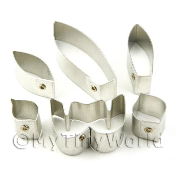 Set of 6 Metal Ladys Slipper Sukhakul Orchid Craft Cutters
