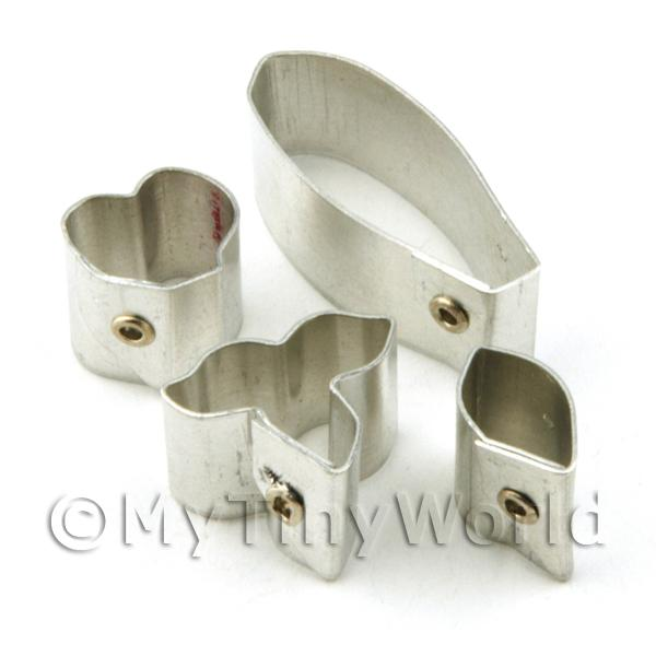 Set of 4 Metal Dendrobium Lindley Orchid Craft Cutters