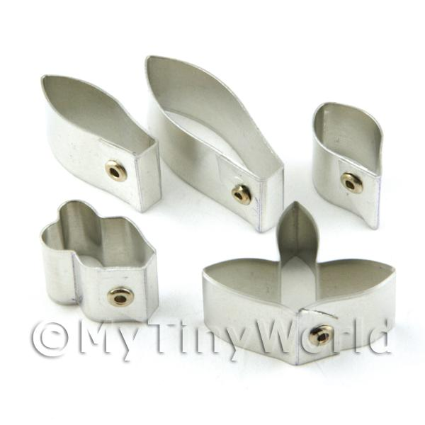 Set of 5 Metal Dendrobium Formusum Orchid Craft Cutters