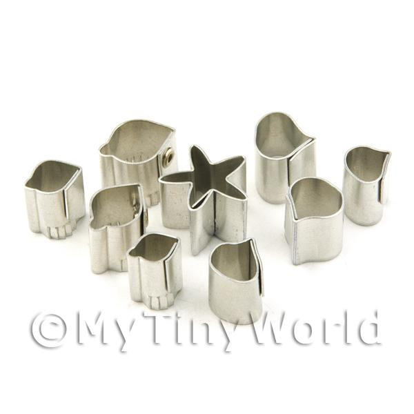 Dolls House Miniature  | Set of 9 Assorted Size Metal (Small) Rose Craft Cutters