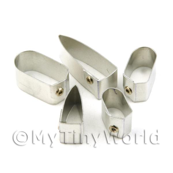 Dolls House Miniature  | Set of 5 Metal Small Banana Sugar Craft Cutters