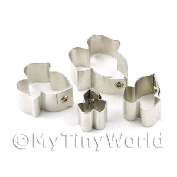 Set of 4 Metal Morning Glory Sugar Craft Cutters