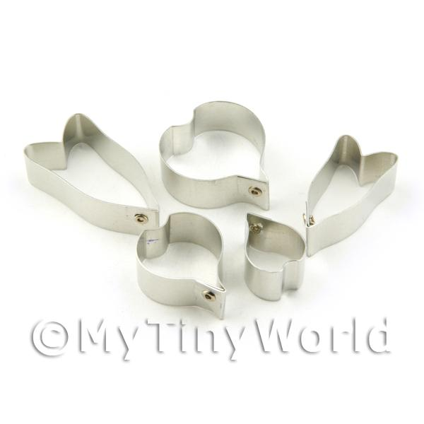 Set of 5 Metal Calla Lilly Sugar Craft Cutters