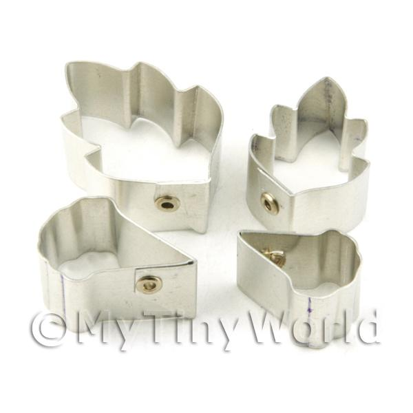 Dolls House Miniature  | Set of 4 Metal Chinese Rose Sugar Craft Cutters