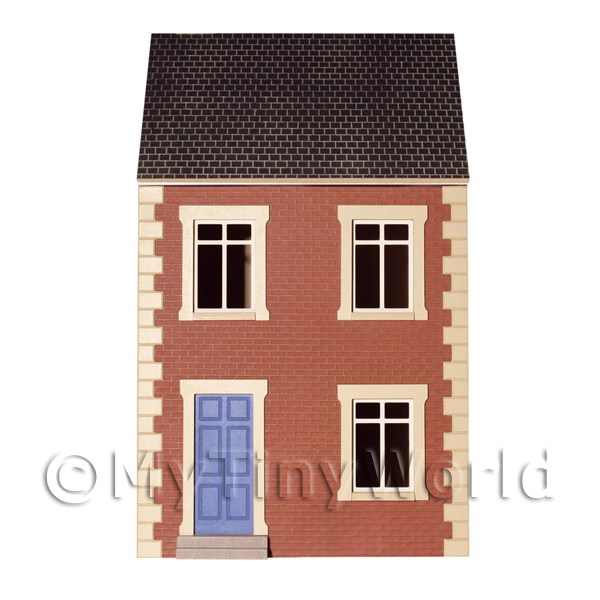 Dolls house miniature dolls houses terrace house 1 12th for Whats a terrace house