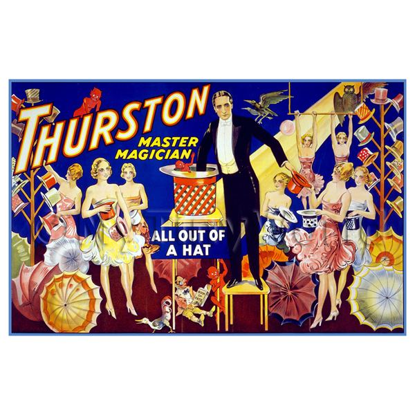 1/12 Scale Dolls House Miniatures  | Dolls House Miniature Thurston Magic Poster - All Out Of A Hat