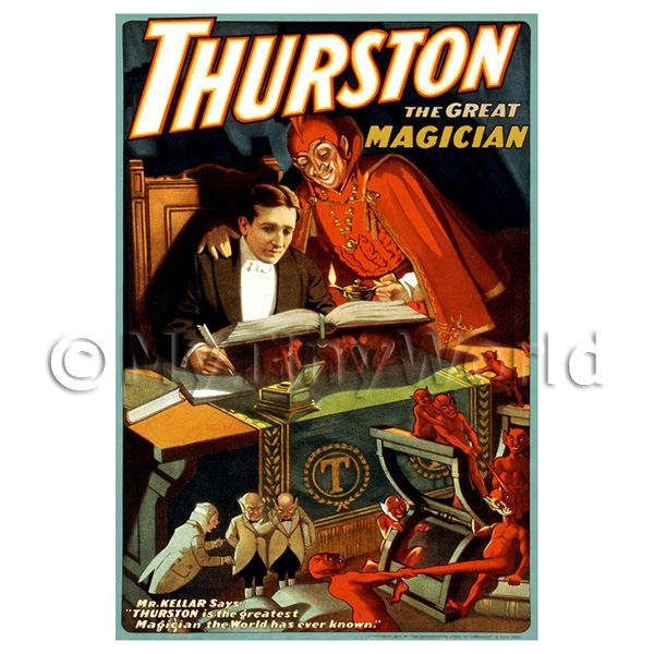 1/12 Scale Dolls House Miniatures  | Dolls House Miniature Thurston Magic Poster - Devils Trickery