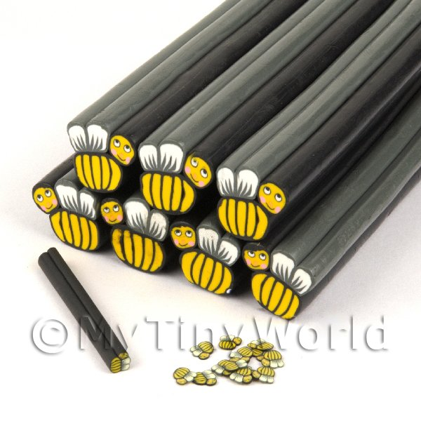 Unbaked Happy Bee Cane Nail Art And Jewellery UNC30