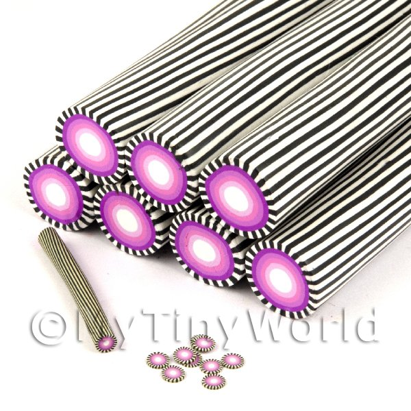 Unbaked Purple Poker Chip Cane Nail Art And Jewellery UNC34