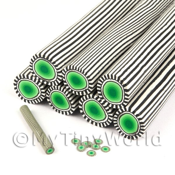 Unbaked Green Poker Chip Cane Nail Art And Jewellery UNC36