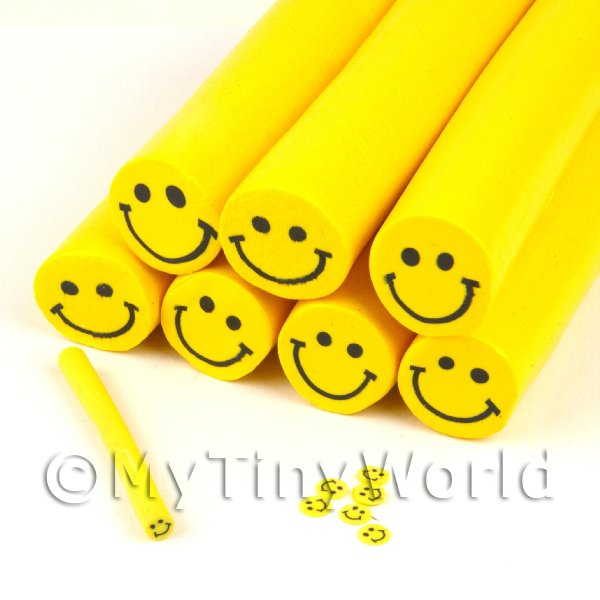 Unbaked Smiley Face Cane Nail Art And Jewellery UNC38