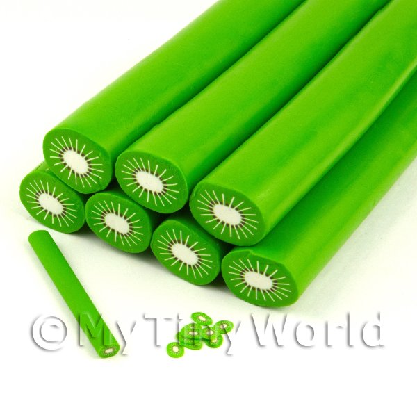 Unbaked Kiwi Cane Nail Art And Jewellery UNC53