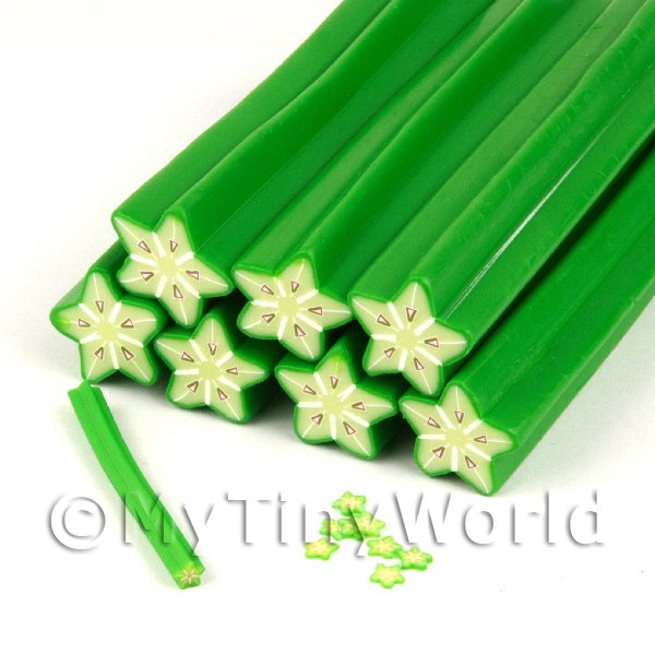 Dolls House Miniature  | Unbaked Star Fruit Cane Nail Art And Jewellery UNC62
