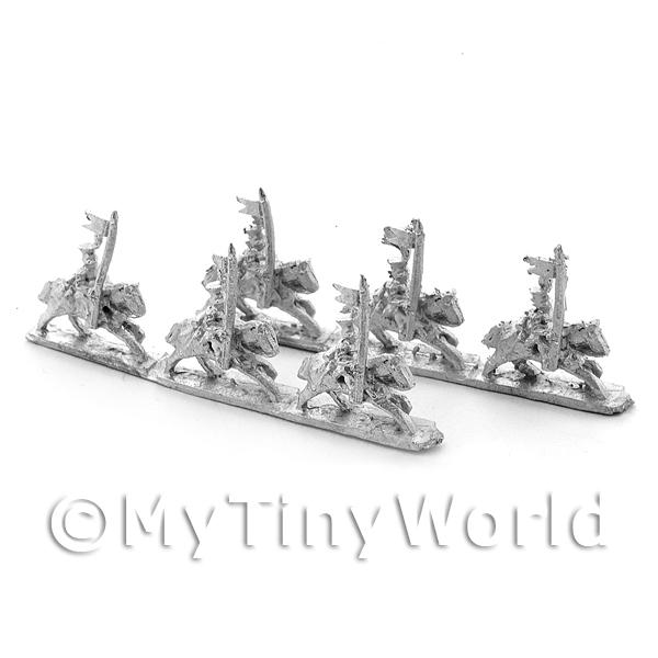 6 Dolls House Unpainted Metal Polish Guard Lancers