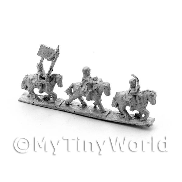 10 Dolls House Metal French Mounted Dragoon Flag Group