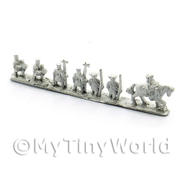 Dolls House Metal Marlburian Russian Line Infantry Office Group