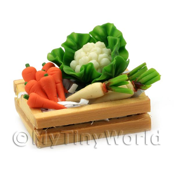 Dolls House Miniature  | Dolls House Miniature Crate of Mixed Veg