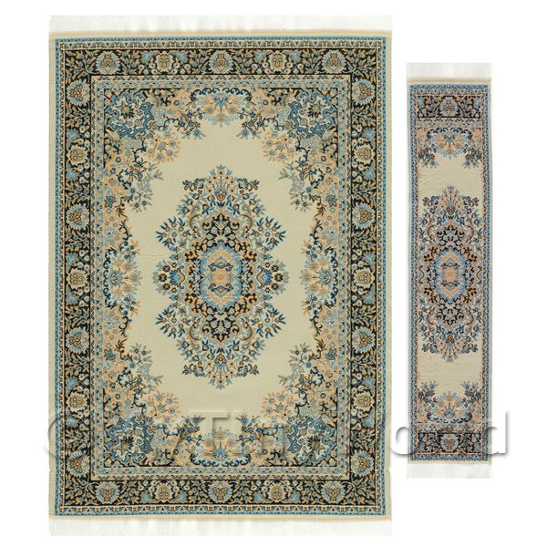 Dolls House Miniature  | Dolls House Large Rectangular Victorian Carpet / Rug With Runner (vclrr02)
