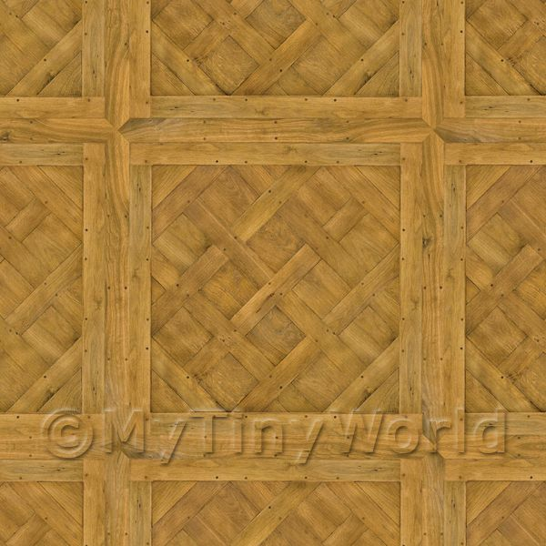 Dolls House Miniature  | Dolls House Versailles Large Panel Parquet Wood Effect Flooring