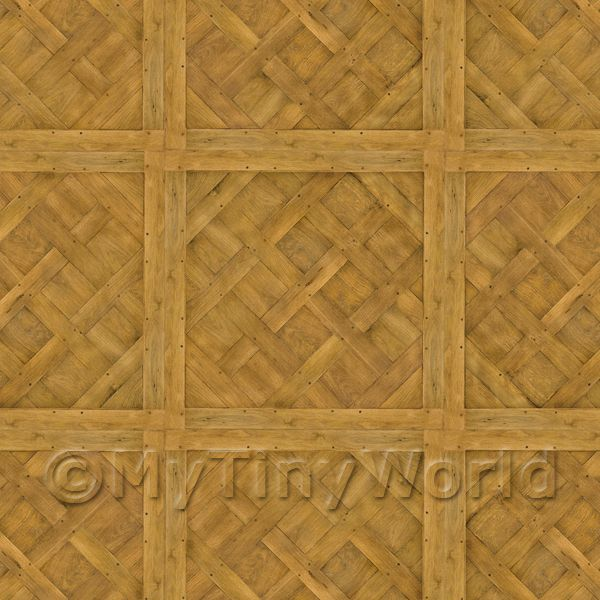 Dolls House Miniature  | Dolls House Versailles Large Panel Parquet With Single Cross Beam