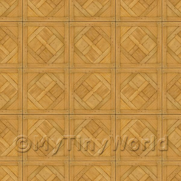 Dolls House Versailles Small Panel Parquet Wood Effect Flooring